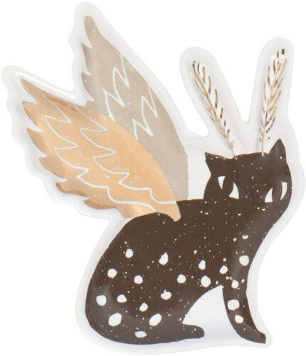 Now Designs trinket tray/ jewelry Beasties cat wings ceramic small new