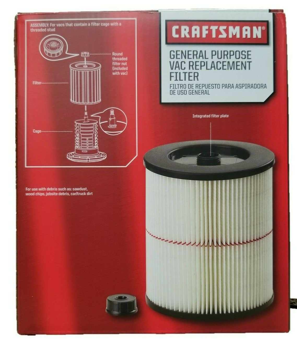 Craftsman 9-17816 OEM Filter Fits Current Craftsman Vacuums 5 Gallons and Above
