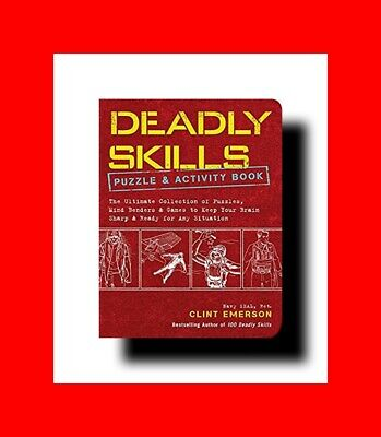 ☆BOOK:100 DEADLY SKILLS PUZZLE EDITION-SURVIVAL ED.NAVY SEAL GUIDE-SURVIVE WILD☆