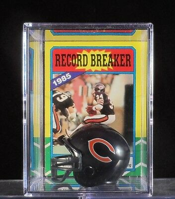 Walter Payton Chicago Bears Trading Card & Mini-Helmet Display