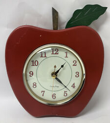 Vintage Red Apple Kitchen Wall Clock - TEACHER GIFT - Quartz by Country Breeze