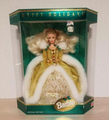 Barbie 1997 Happy Holidays Barbie Doll, Christmas, Limited Edition #17832 NIB