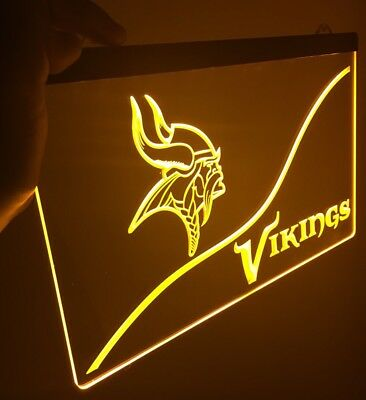 - NFL Minnesota VIKINGS LED Neon Sign for Game Room,Office,Bar,Man Cave. NEW!