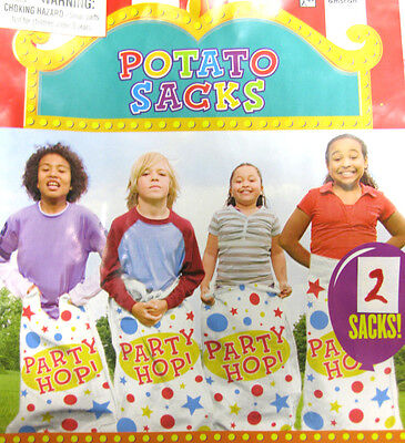 Used, 4 pcs WOVEN POLY POTATO SACK RACE HOP BAGS CARNIVAL PARTY GAME ACTIVITY CHILDREN for sale  Fort Wayne