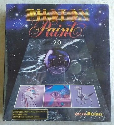 Photon Paint 2.0 For Commodore Amiga, NEW FACTORY SEALED, MicroIllusions