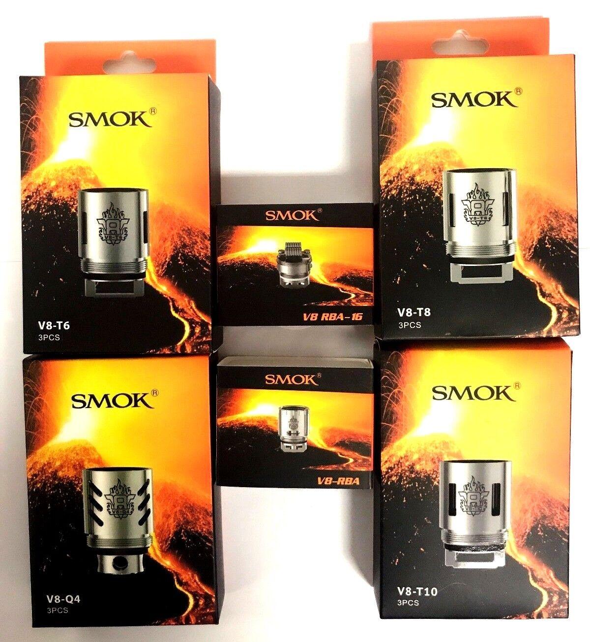 Authentic SMOK TFV8 V8-Q4|T6|T8|T10|RBA|RBA16 Coil U.S. Seller