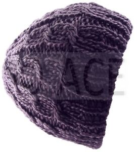 Womens Beanies Women Beanie Hat Cable Knit Knitted Wool Ladies Hats