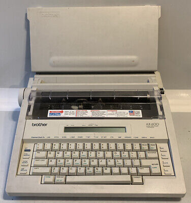 Brother Ax-600 Electronic Word Processing Typewriter Quiet Tested Working Usa