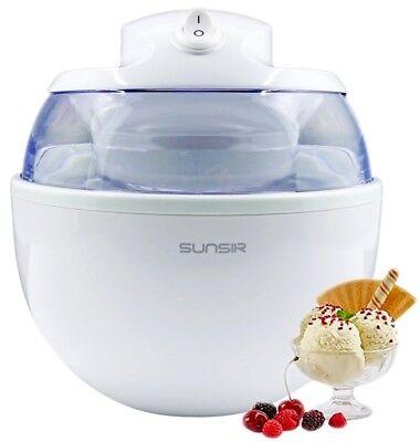 Electric Ice Cream Frozen Yogurt And Sorbet Dessert Automatic Maker Machine Home