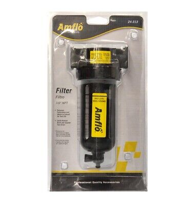 Amflo Air Compressor Airline Inline Particlewater Filter 24-313 38 Npt