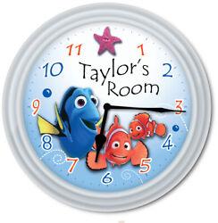 Nemo PERSONALIZED Wall Clock - Disney Dory Ocean Kids Bedroom Bathroom - GIFT