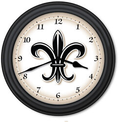 Fleur-de-lis Wall Clock - Kitchen Home French Decor France New Orleans - GIFT