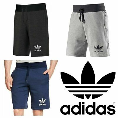 Adidas Mens Shorts 3 Stripe Trefoil Logo Gym Running Sports Pocket Cotton