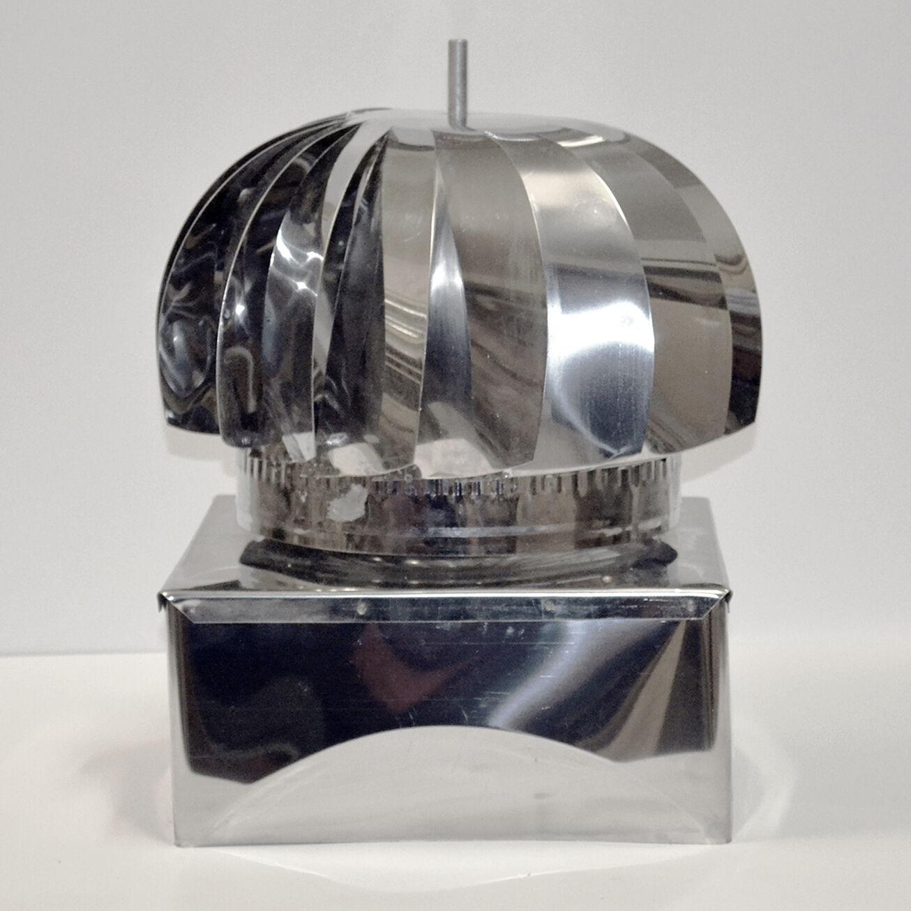 Aspiratore comignolo cappello eolico inox o zincato base - Aspiratore bagno senza uscita esterna ...