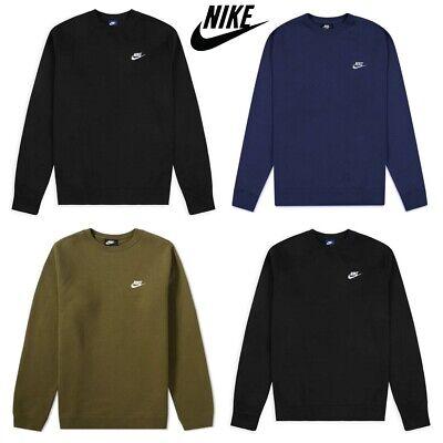 Nike Mens Crew Sweatshirt Club Tracksuit Training Sweater Jumper Top Fleece