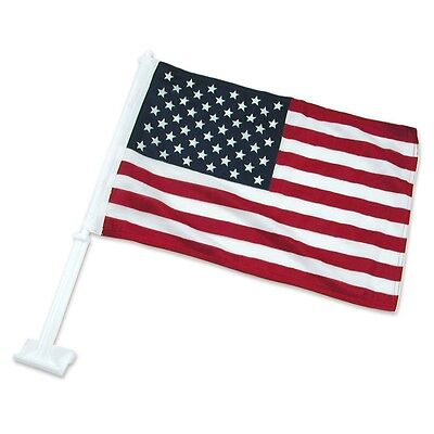"American US Car Window Auto Flag  -11"" by 20""  for 2 pcs"