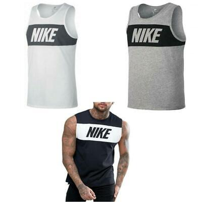 Nike Men's Vest Top Sleeveless Tee Vest  Black/White/Grey