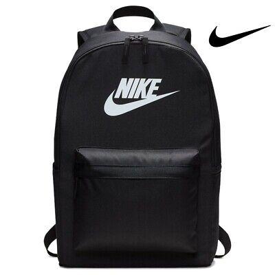 Nike Backpack Heritage 2.0 Sports Bag Gym Training Backpacks Black
