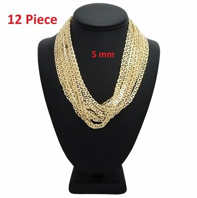 - 5mm 12 Piece Mariner Gucci Chain Necklace 20