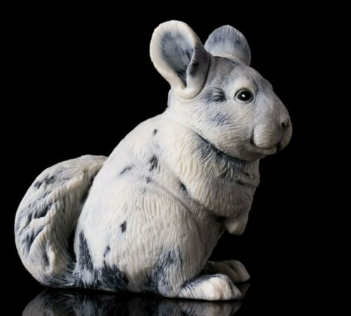Marble chinchilla sculpture, Russian stone art realistic animal figurine