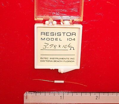 Qty 1 Eltec Model 104 High Megohm Tubular Resistor 3.98x106