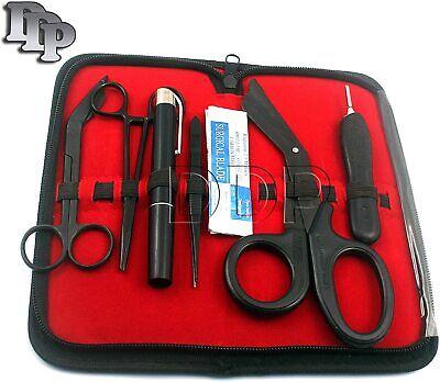17 Pcs First Responder Tactical Kit Shears Emtscissors Pack Tactical All Black