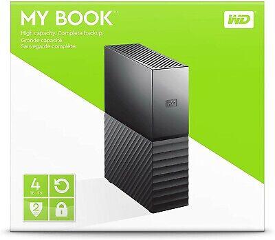 SEALED WD 4TB My Book Desktop External Hard Drive - USB 3.0 - WDBBGB0040HBK-NESN
