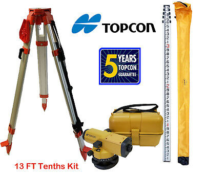Topcon At-b4a 24x Automatic Level With 13 Ft Tenthsheight Survey Rod Tripod