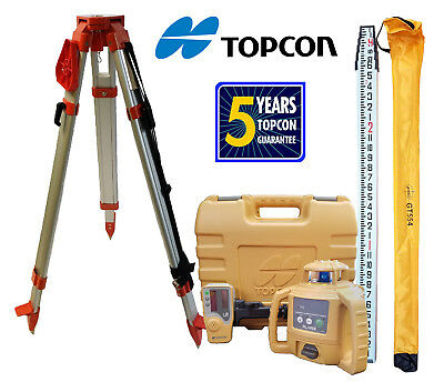 Topcon Rl-h5b Db Laser Level Plus Aluminum Tripod 13 Ft Inchestenths Rod
