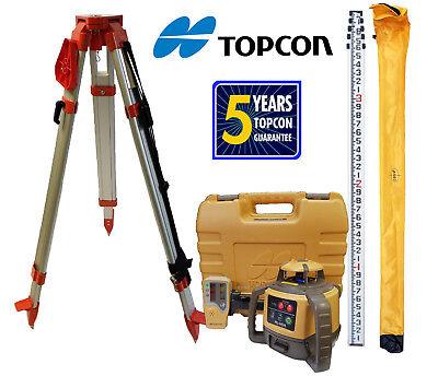 Topcon Rl-h5a Db Package Plus 13 Foot Rod In Tenths Tripod