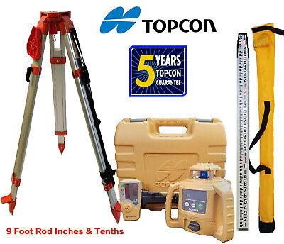 Topcon Rl-h5b Db Laser Level Plus Aluminum Tripod 9 Ft Inchestenths Rod