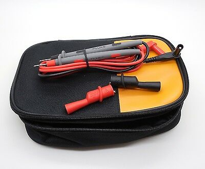 Fluke Soft Carrying Case 87 287 289 87v 88v 787 789 Tl71 W Leads 10a C25 Ac72
