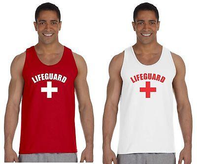 Lifeguard Mens Ultra Cotton Tank Top YMCA Pool Staff Gildan Ultra Cotton Tank Top