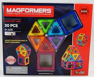 New Magformers Intelligent Magnetic Construction Set 30 Piece Basic Set Line -