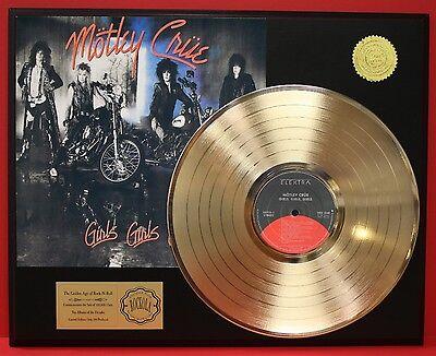 MOTLEY CRUE GIRLS GIRLS GIRLS GOLD LP LTD EDITION RECORD DISPLAY