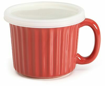 Good Cook Ceramic 18 Ounce Soup Dish, Red Good Cook Ceramic