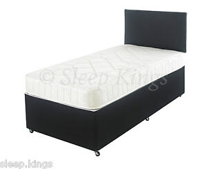 3ft single divan bed in black with mattress headboard for 3ft single divan bed with mattress