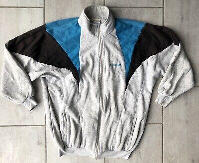 Rare Vintage Adidas Full zip Sweater Sea Grey Blue Black Trefoil Size Large
