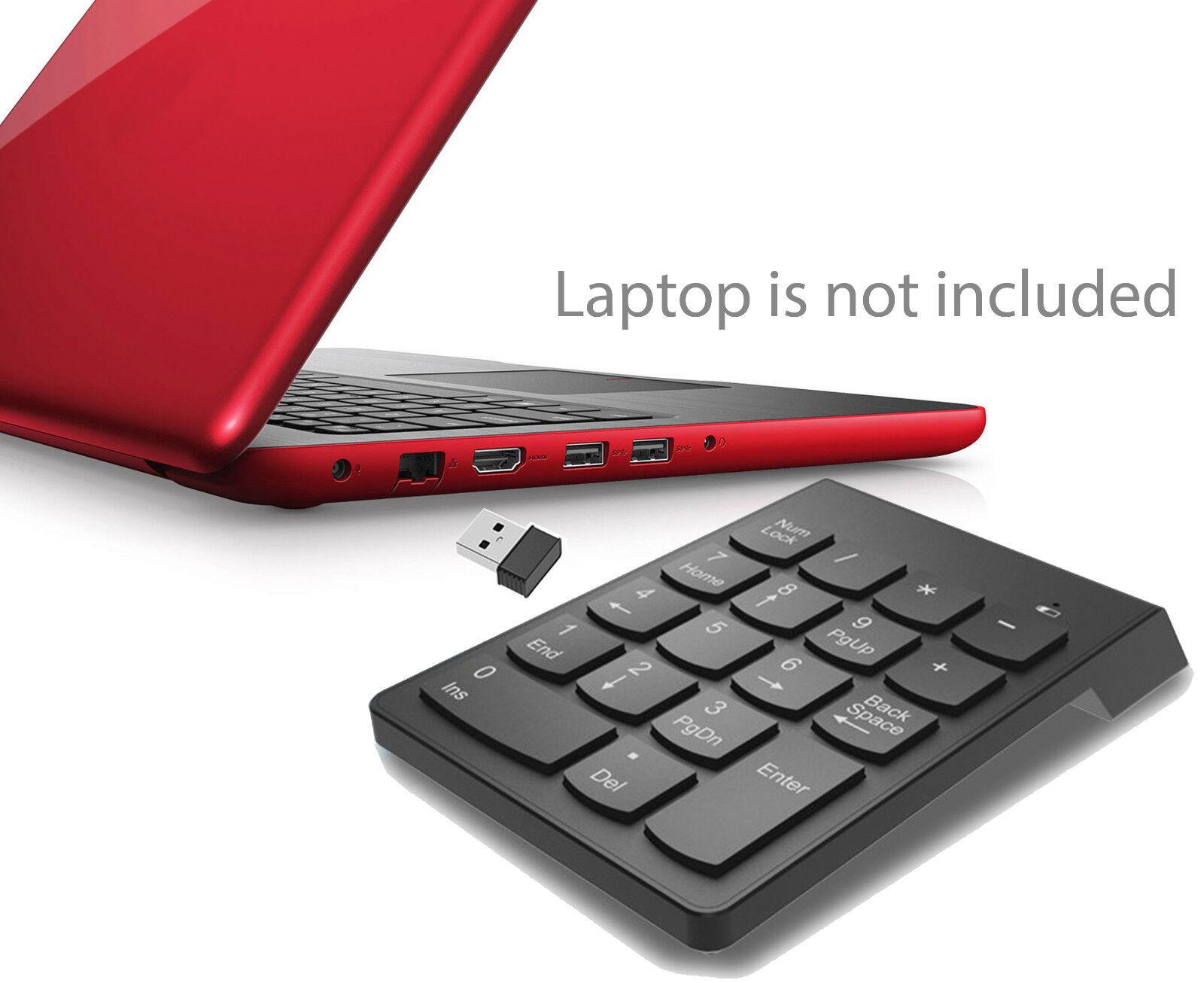 Wireless Numeric Keypad Financial Numpad Keyboard for Notebo