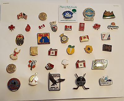 35 ASSORTED PINS FROM CANADA