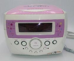 Hello Kitty Radio Pink Clock Radio Alarm CD Player KT2053 Sanrio TESTED