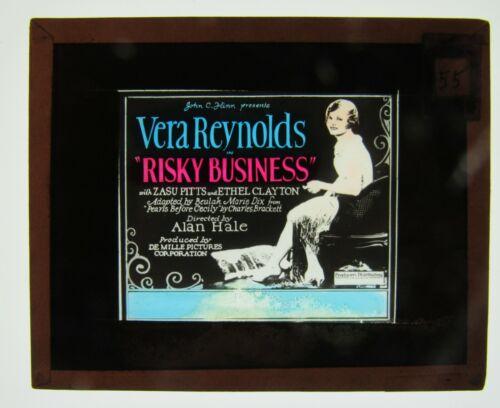Movie Glass Slide- 1926 Vera Reynolds and Zasu Pitts in Risky Business!