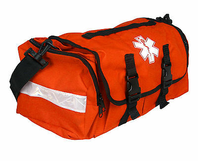 First Responder Emt Paramedic On Call Trauma Bag W Reflectors- Orange 17x7x10