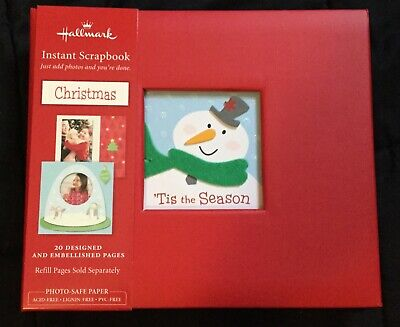 "Hallmark Instant Scrapbook- Christmas 6"" x 7"" with decorative pages for pictures"