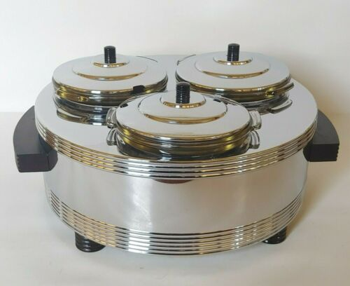 Chase Art Deco Machine Age Chrome Snack Warmer Reichenbach Industrial Design