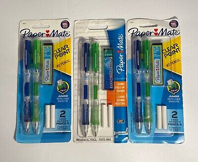 3 Paper Mate Clearpoint Mechanical Pencils With Refills 0.9mm Hb 2 2 Pack
