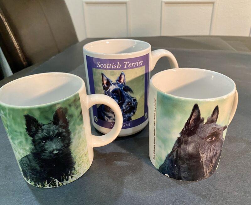 Scottie Dog Collectible Coffee Mug Lot (3)