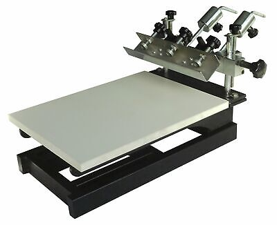 1 Color Screen Printing Press Micro-registration Screen Printer For Tshirts