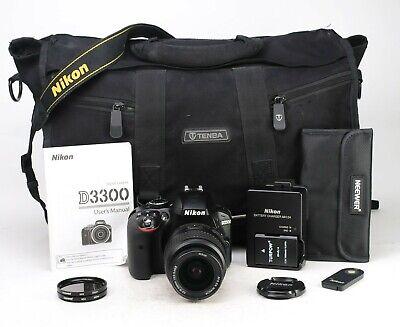 Nikon D3300 DSLR Camera & Nikon AF-S 18-55mm II Lens Kit - Low Only 6,165 Shots
