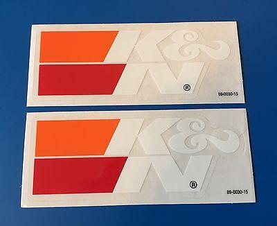 Pair K&N K & N Air Filter Authentic Glossy STICKER DECAL Performance Racing (Oem Race)